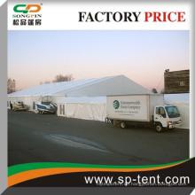 Lagerzelt 20x40m in massiver Wand und Stahl Rolltor