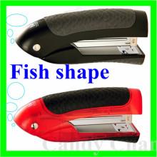 Grampeador de escritório em forma de peixe intestino, grampeador de intestino