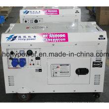 Gerador diesel silencioso refrigerado a ar 6kw do poder para o uso industrial