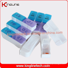 Metal/Plastic Pill Case with 6-Cases (KL-9028)