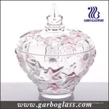 Pot de verre à la feuille d'érable rouge (GB1806FY / PDS)