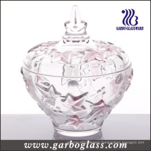 Red Maple Leaf Glass Jar (GB1806FY/PDS)