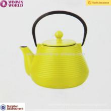 Farbgusseisen-Teekanne-Metallteetopf 1000ML, kundenspezifisches Logo-weißes / schwarzes Logo