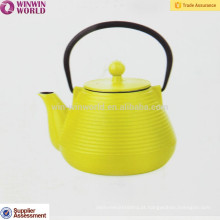 Potenciômetro 1000ML do chá do metal do bule do ferro fundido da cor, logotipo branco / preto feito sob encomenda do logotipo
