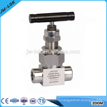 Made in china straight 2-way stainless steel needle valve