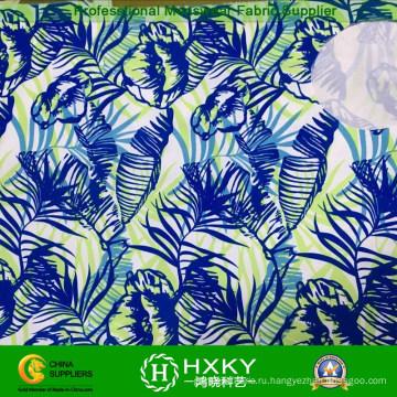 Сплетенный полиэфир напечатал ткань для Леди платья или рубашки