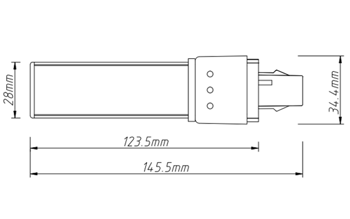 PL-15-6W led tube pl light size