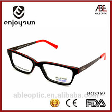 high quality 2015 classic double colors acetate hand made spectacles optical frames eyewear eyeglasses