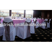 couverture de 100 % de polyester chaise, chaise d'hôtel/Banquet/mariage couvre, ceinture d'Organza