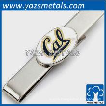 University bears cufflinks and tie bar gift set, custom made metal tie clip with design