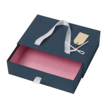 Blue drawer boxes for gift pack custom colors drawer gift box with handle