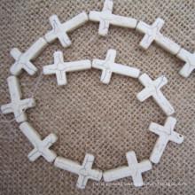 Türkis seitlich Kreuz, Howlite Sideway Kreuz, seitlich Cross Connector