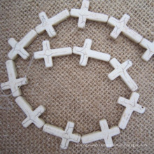 Turquoise Sideways Cross, Howlite Sideway Cross, Sideways Cross Connector
