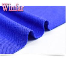 Tela de viscosa elastano de jersey único de tinte sólido