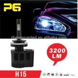 2016 top quality hot sale P6 3200lm 12v automotive parts led bulbs 6000K