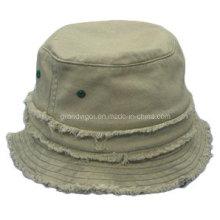 Moda de sarga de algodón Flanged pescador Hat para las damas