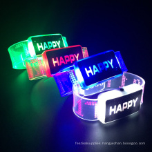 light up led flashing 2017 happy bracelets party supply