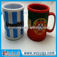 Fashion promotional souvenir 3d mugs with rubber cover