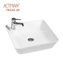 Petit bassin de lavage des mains rectangulaire blanc