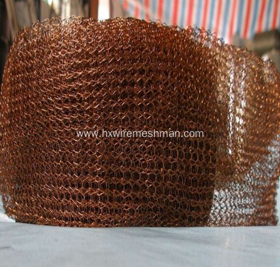 Copper knitted wire mesh