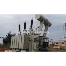 150kV Trifásico de 60MVA de petróleo inmerso transformador de energía de África instalado