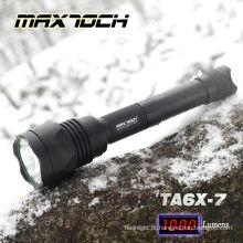 MAXTOCH 2012 Final venda verde feixe filtro 1000LM XML T6 TA6X-7 melhor caça tático lanterna LED