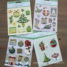 Custom 3D Dimensional Christmas Scrapbook Handmade Paper 3D Stickers