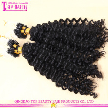 Wholesale micro rings loop kinky hair extensions indian human remy micro braiding hair