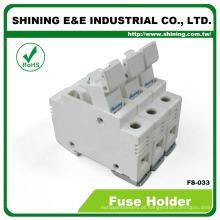 FS-033 Din Socket Conector Cartucho Cilindro Cerâmica Fuse Holder