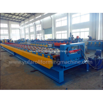 High-end Steel Deck Floor Forming Machine in Yellow Color