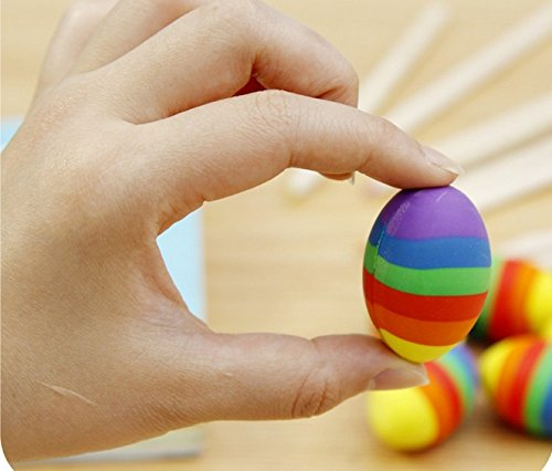 Colorful Rainbow Egg Eraser 2