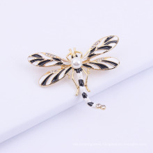 Dragonfly Color Oil Painting Pearl Art Versatile Brooch