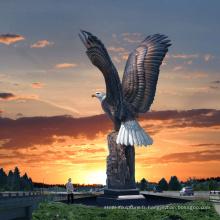 Sculpture en bronze de haute qualité art extérieur aigle statues