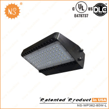 Waterproof Dlc UL 8800lm 80W LED Wall Pack Light