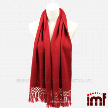 Lady Red Knitted Cashmere Stole Scarves