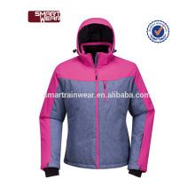 2018 abrigos y chaquetas con capucha acolchadas de invierno mujer al por mayor chaqueta de nylon 100%