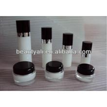 100ml 200ml redondo acrílico reciclado cosméticos creme frasco