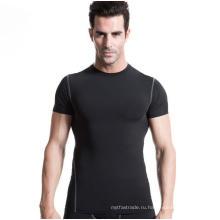 Мужчины Короткая-Рукав Спорт T-Рубашки Интенсивных Тренировок Быстрый Пот