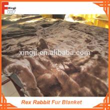 Dyed Single Color Rex Rabbit Fur Blanket