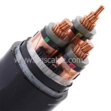 ПВХ / XLPE / резина / 3 ядра / медные силовые кабели