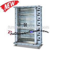 K763 Restaurant Multilayer Chicken Gas Vertical Rotisserie Com CE