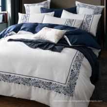 100% хлопок длинный сшиваются хлопка гостиницы комплект постельных принадлежностей/Египетский хлопок отель постельных принадлежностей