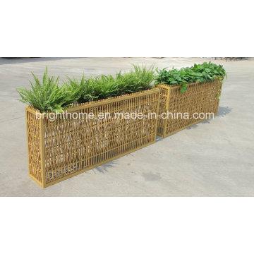 Pote de flor da decoração do jardim / mobília ao ar livre Handwoven (BP-F10B)
