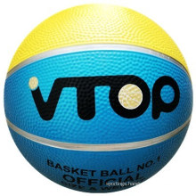 Red Yellow Blue Brightly Rubber Basketball Sporting Balls