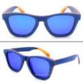 FQ marca exportar o estilo quente homem polarizado Natural skate madeira óculos de sol