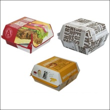 OEM manufacturer custom for Gift Paper Box Wholesale Burger Packing Box  Fast Food Packaging supply to Reunion Manufacturers