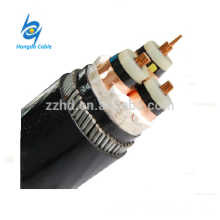 11KV 3 núcleo 185mm2 CU / XLPE / CWS / PVC Cable de alimentación eléctrica subterráneo