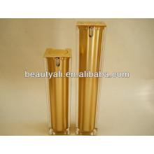Роскошная квадратная косметика Акриловый безвоздушный насос Jar 15мл 30мл 40мл 50мл 100мл