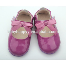 Factory price purple leather shoes baby shoes baby girls shoes