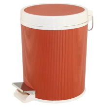 Leather Covered Plastic Foot Pedal Waste Bin